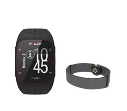 Running Watches polar m430 black with oh1+ gray