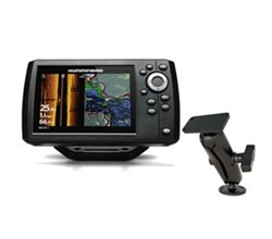 FishFinders Chartplotters humminbird helix 5 si gps combo with ram mounts surface mount